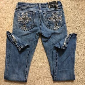 MISS ME cross bootcut jeans size:27